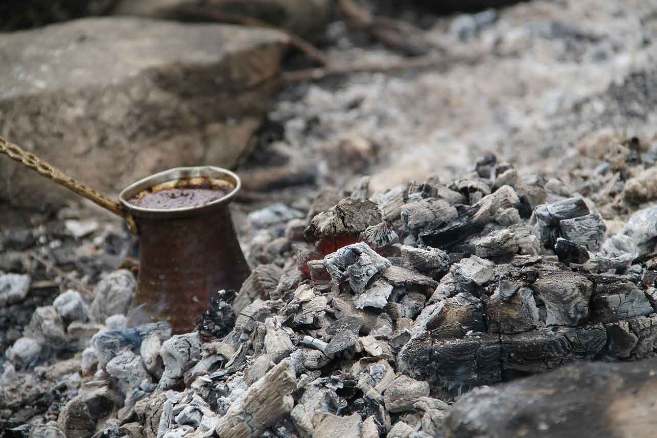 Turkish coffee – coffee grounds at the bottom