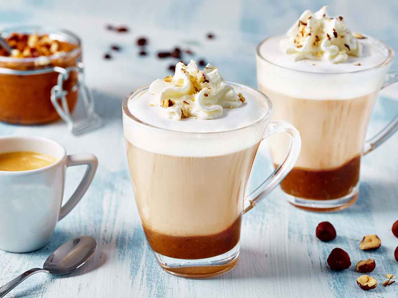 Hazelnut Latte for cold day