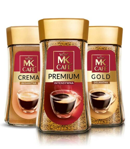 triple packaging MK Cafe Premium, Gold and Crema
