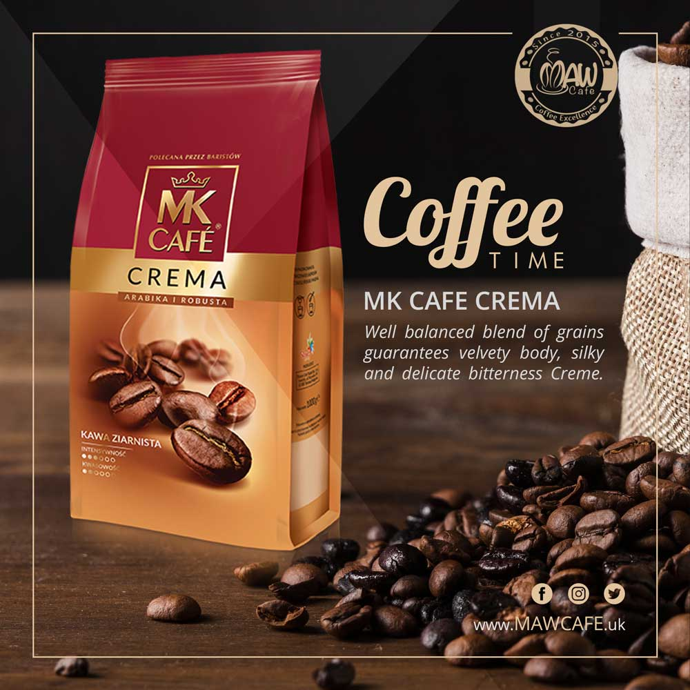 MK Cafe Crema Coffee Beans